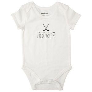 """NWT Baby Onesie «I'm told I like hockey"""""""